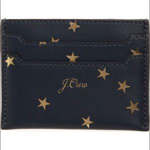 ✨🆕✨ J.Crew foil star leather slip card case